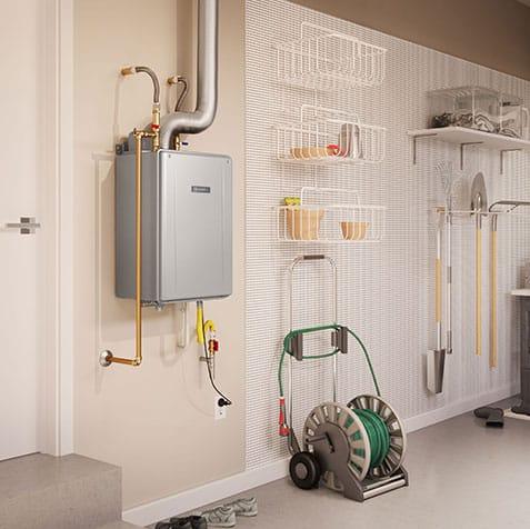 tankless water heaters offers space savings
