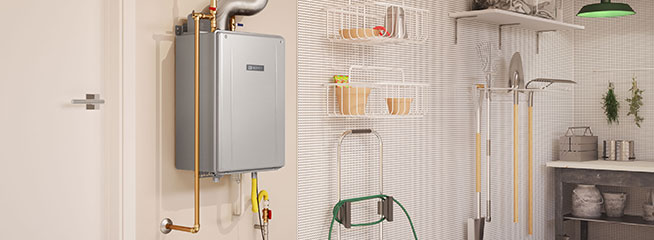 Tankless offers space savings