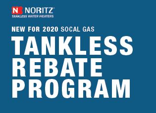 Noritz 2020 SoCal Gas Tankless Rebate Program